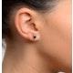 Sapphire 5mm x 4mm 18K White Gold Earrings - image 3