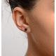 Sapphire 5mm x 4mm 18K White Gold Earrings - image 4