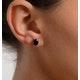 Sapphire 7mm x 5mm 18K White Gold Earrings - image 2