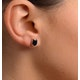 Sapphire 7mm x 5mm 18K White Gold Earrings - image 3
