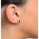 Sapphire 6mm x 4mm And Diamond 18K Yellow Gold Earrings  FEG25-U - image 4
