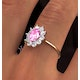 18K Gold 0.50CT Diamond and 1.05CT Pink Sapphire Ring - image 4