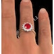 Ruby 2.40ct And Diamond 1.00ct 18K Gold Ring - image 3