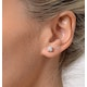 Diamond Earrings 1.00CT Studs Premium Quality in 18K White Gold 5.1mm - image 4