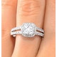 Halo Engagement Ring Galileo 0.90ct of Diamonds in 18K Gold - FT73 - image 4