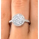 Halo Engagement Ring Galileo with 1ct of Diamonds in 18KW Gold - FT76 - image 4