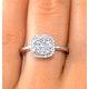 0.70ct Diamond Engagement and 18K White Gold Galileo Ring FT79 - image 4