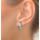 Emerald 1.10CT And Diamond 9K White Gold Earrings - image 4
