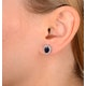 Sapphire 7mm x 5mm And Diamond 9K White Gold Earrings  H4475 - image 2