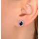 Sapphire 7mm x 5mm And Diamond 9K White Gold Earrings  H4475 - image 3