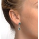 Emerald 4 x 6mm And Diamond 9K White Gold Earrings  H4482 - image 4