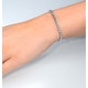 Diamond Tennis Bracelet Rubover Style 1.00ct 9K White Gold - image 3