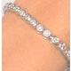 Diamond Tennis Bracelet Rubover Style 5.00ct 9K White Gold - image 3