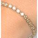 Diamond Tennis Bracelet Rubover Style 3.00ct 9K Yellow Gold - image 3
