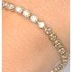 Diamond Tennis Bracelet Rubover Style 4.00ct 9K Yellow Gold - image 3
