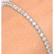 3ct Diamond Tennis Bracelet Claw Set in 9K White Gold - image 3