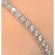4ct Diamond Tennis Bracelet Claw Set in 9K White Gold - image 3