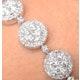 Halo Bracelet with 5CT of Diamonds in 18K White Gold - J3353 - image 4