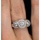 Halo Pave Ring - Celeste - 0.92ct of H/Si Diamonds in 18K White Gold - image 4