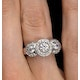 Halo Pave Ring - Celeste - 0.92ct of H/Si Diamonds in 18K White Gold - image 4