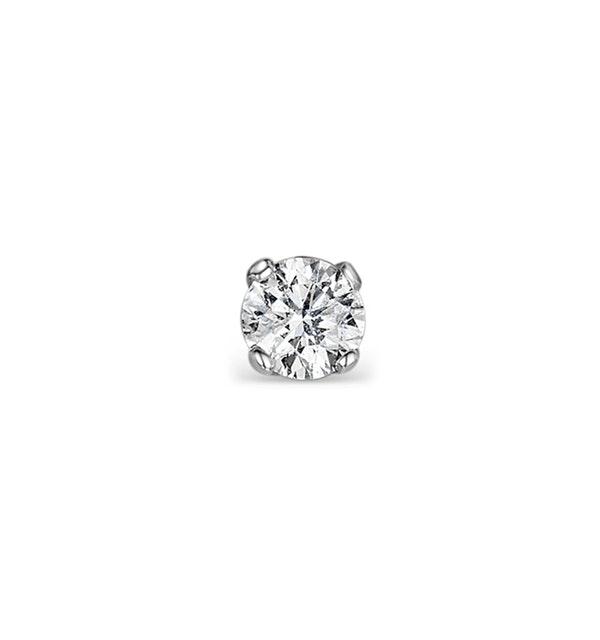 Single Stud Diamond Earring 0.05ct Premium 9KW Gold - 2.5mm - image 1
