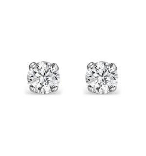 DIAMOND EARRINGS 0.15CT STUDS IN 9K WHITE GOLD - B3468Y