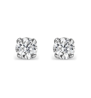 DIAMOND EARRINGS 0.20CT STUDS PREMIUM QUALITY IN 18K WHITE GOLD - 3MM