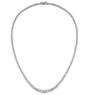 Diamond Necklace Tara 10.00ct Look in 18K White Gold D3497