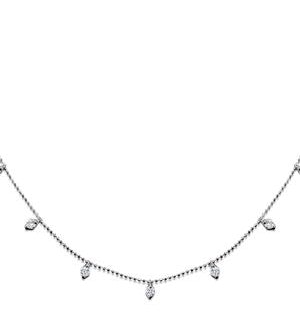 Vivara Collection 1.00ct Diamond and 18K White Gold Necklace D3400