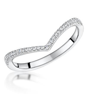 Stellato Collection Diamond Wishbone Ring 0.12ct in 9K White Gold