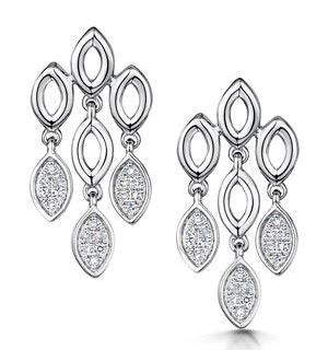Stellato Collection Diamond Chandelier Earrings 0.12ct 9K White Gold