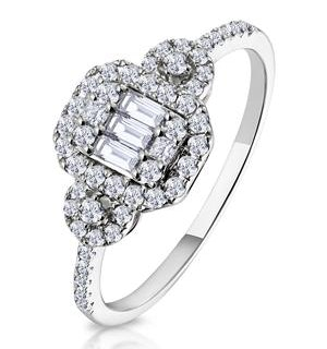 0.50ct Vintage Asteria Collection Diamond Ring in 18K White Gold