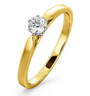 Certified Low Set Chloe 18K Gold Diamond Engagement Ring 0.25CT
