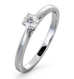 Engagement Ring Certified Petra 18K White Gold Diamond  0.25CT
