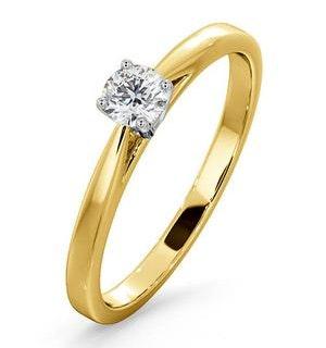 Engagement Ring Certified Petra 18K Gold Diamond  0.25CT