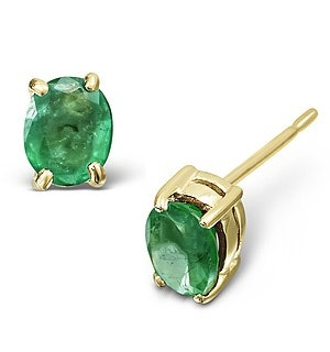 Emerald 0.30CT 9K Yellow Gold Earrings