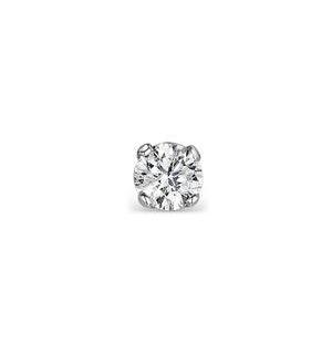Single Stud Diamond Earring 0.05ct Premium 9KW Gold - 2.5mm