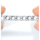 Silver Diamond Set 1.00ct Tennis Bracelet - image 4
