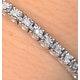 Silver Diamond Set 0.57ct Tennis Bracelet - image 2