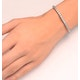 Silver Diamond Set 0.57ct Tennis Bracelet - image 3