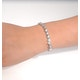 0.19ct Diamond and Silver Twist Bracelet - UD3241 - image 4