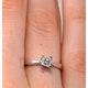 Certified Lauren Platinum Diamond Engagement Ring 0.33CT-G-H/SI - image 4