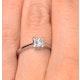 Certified Lauren Platinum Diamond Engagement Ring 0.50CT-G-H/SI - image 4