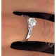 Certified 0.90CT Chloe Low Platinum Engagement Ring E/VS2 - image 4