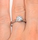 Certified 1.00CT Chloe Low Platinum Engagement Ring G/SI2 - image 4