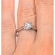 Certified Low Set Chloe 18K White Gold Diamond Engagement Ring 1.00CT - image 4