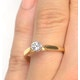 Certified Low Set Chloe 18K Gold Diamond Engagement Ring 0.25CT - image 4