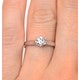 Certified 0.50CT Chloe Low Platinum Engagement Ring G/SI2 - image 4