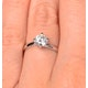 Certified Lily 18K White Gold Diamond Engagement Ring 1.00CT - image 4