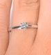 Engagement Ring Certified Petra 18K White Gold Diamond  0.25CT-G-H/SI - image 4